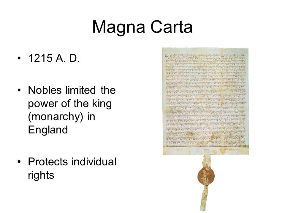 Magna Carta 1215 A. D.