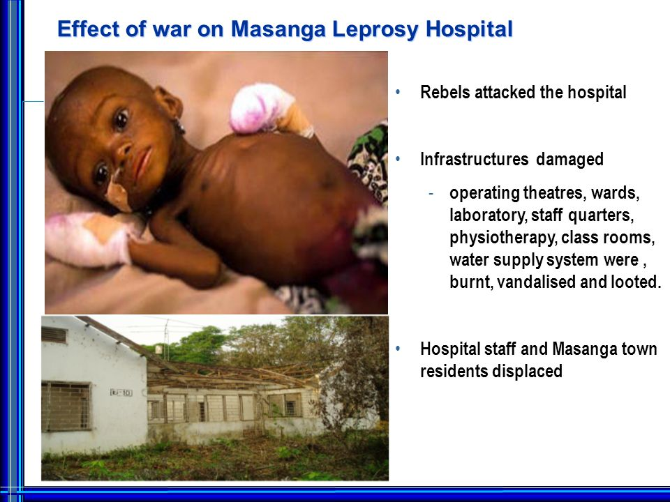 Masanga Leprosy Hospital Post Rebel War Basic building structure survived but remained derelict.
