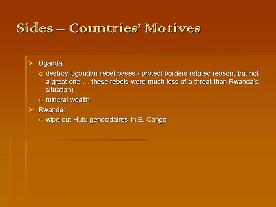 Course - Events  1998: war starts  1999: failed peace attempt  b/c of mineral wealth  2001: Laurent Kabila assassinated  Joseph K.