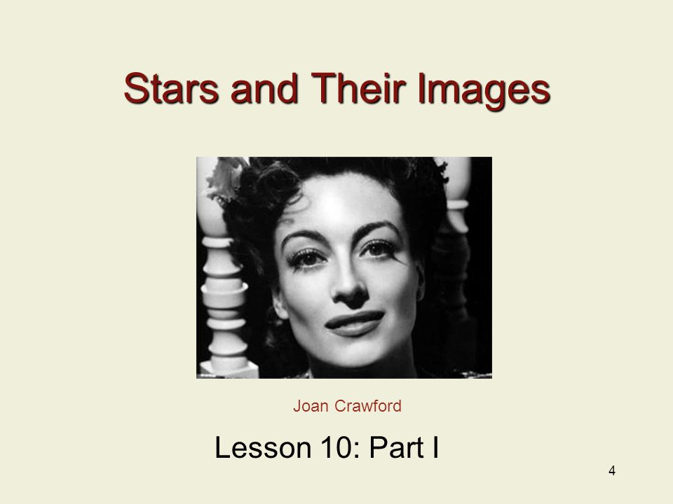 Stars and Their Images 4 Joan Crawford Lesson 10: Part I