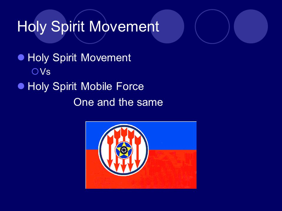 Holy Spirit Movement  Vs Holy Spirit Mobile Force One and the same