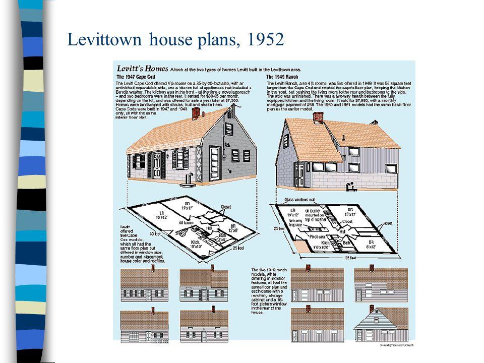 Levittown house plans, 1952