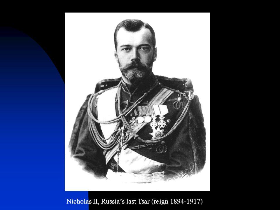 Nicholas II, Russia's last Tsar (reign 1894-1917)