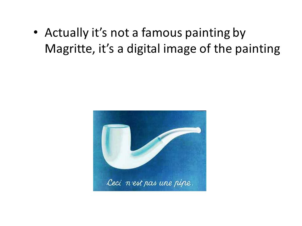 Actually it's not a famous painting by Magritte, it's a digital image of the painting