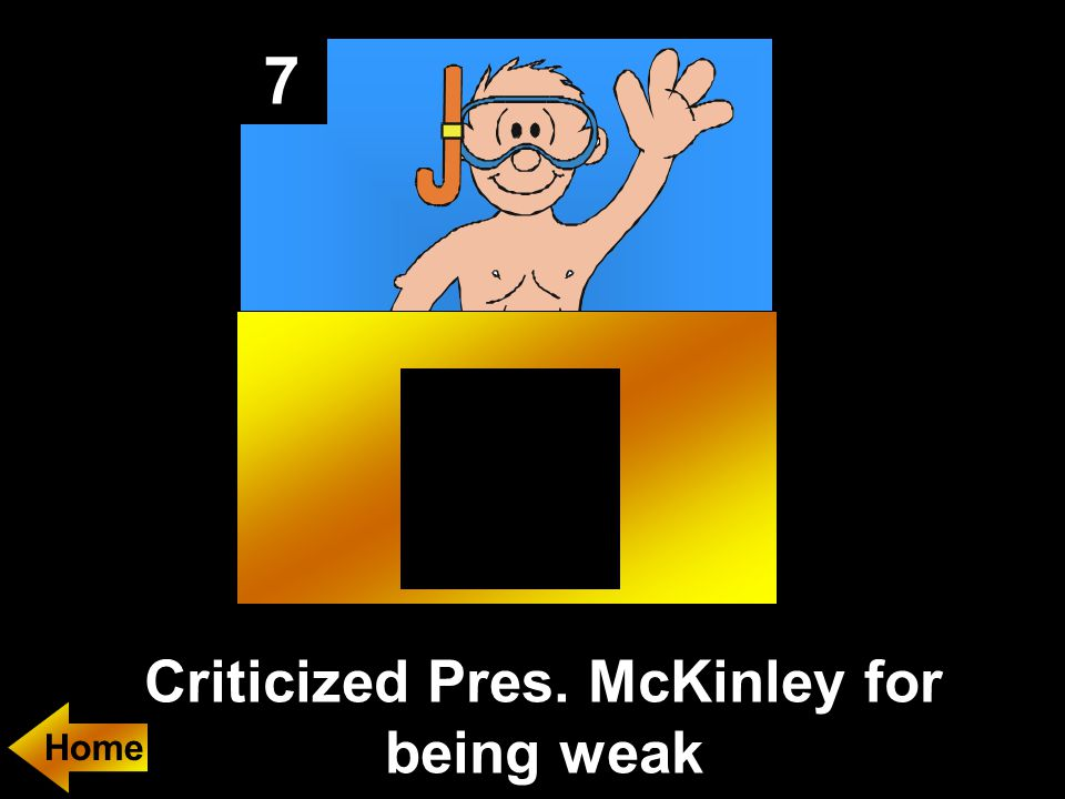 7 Criticized Pres. McKinley for being weak