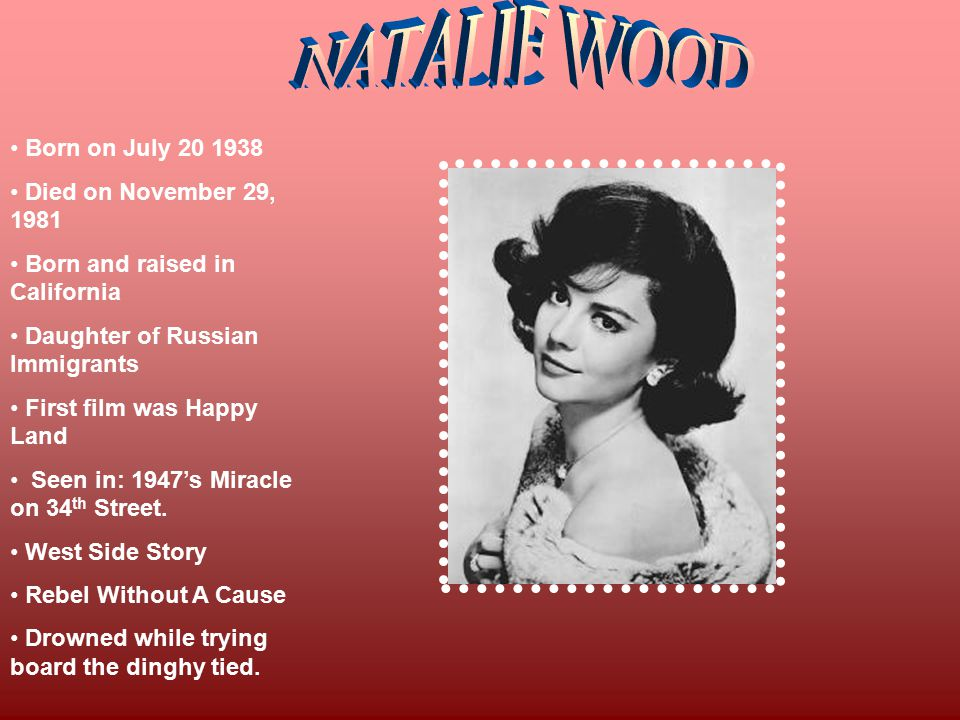 Born on July 20 1938 Died on November 29, 1981 Born and raised in California Daughter of Russian Immigrants First film was Happy Land Seen in: 1947's Miracle on 34 th Street.