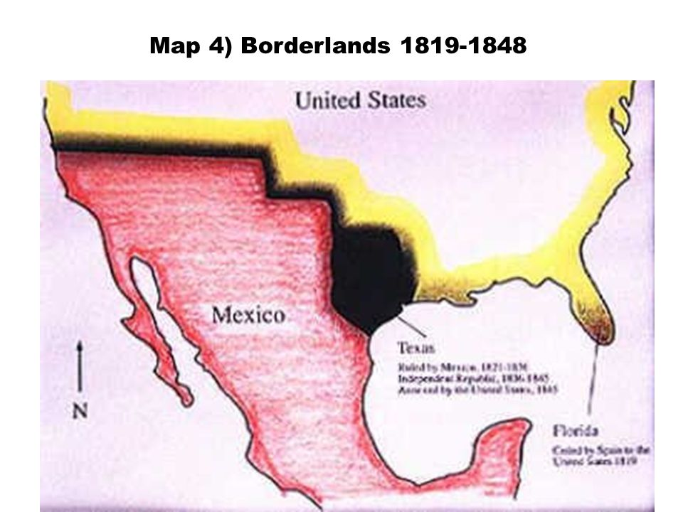Map 4) Borderlands 1819-1848