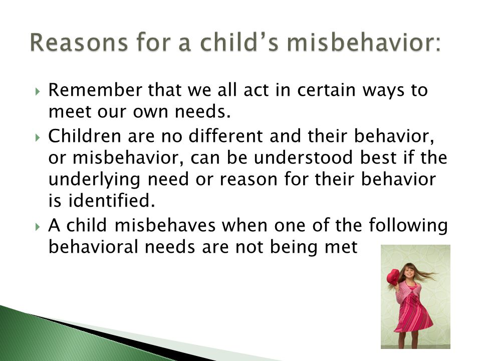 a. The goal of discipline and guidance is to help the child learn self-control b.