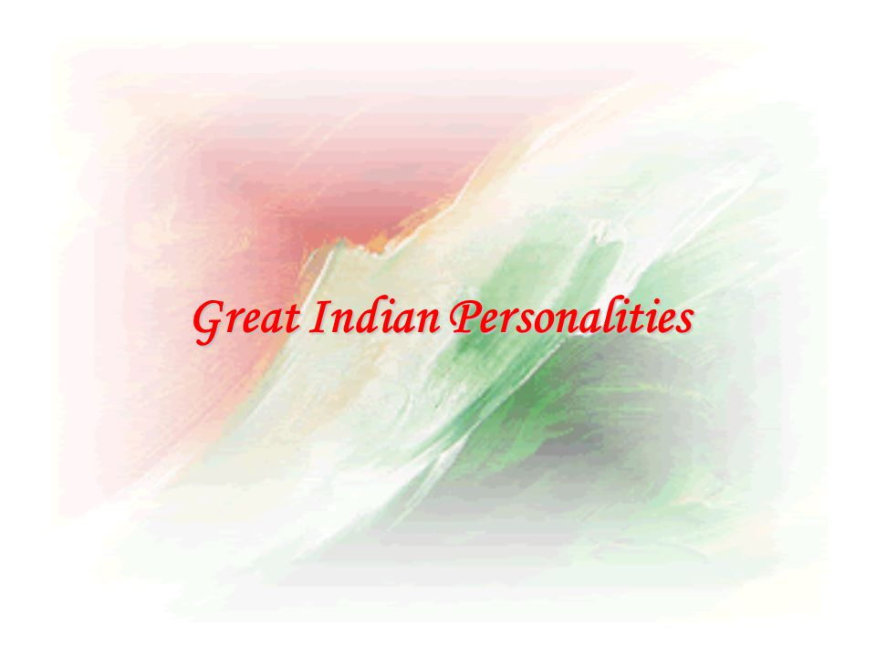 Great Indian Personalities