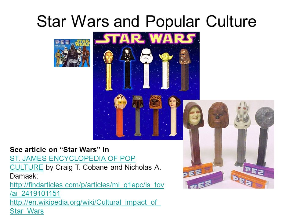 Star Wars and Popular Culture See article on Star Wars in ST.