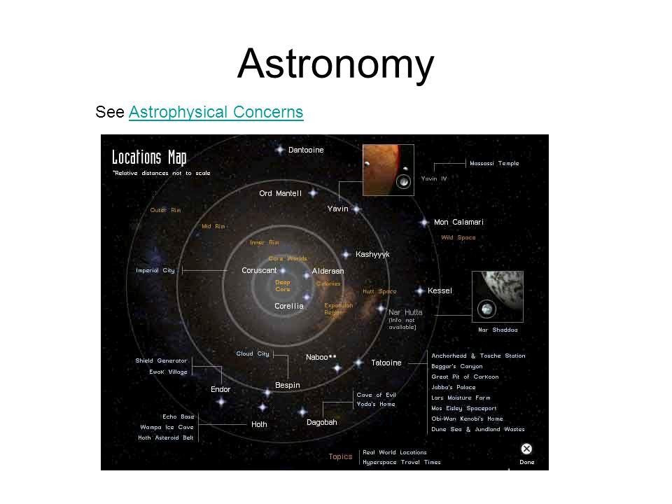 Astronomy See Astrophysical ConcernsAstrophysical Concerns