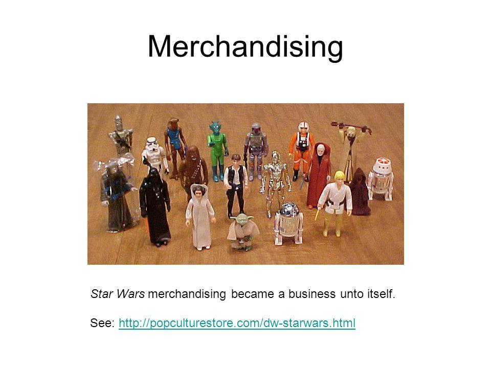 Merchandising Star Wars merchandising became a business unto itself.
