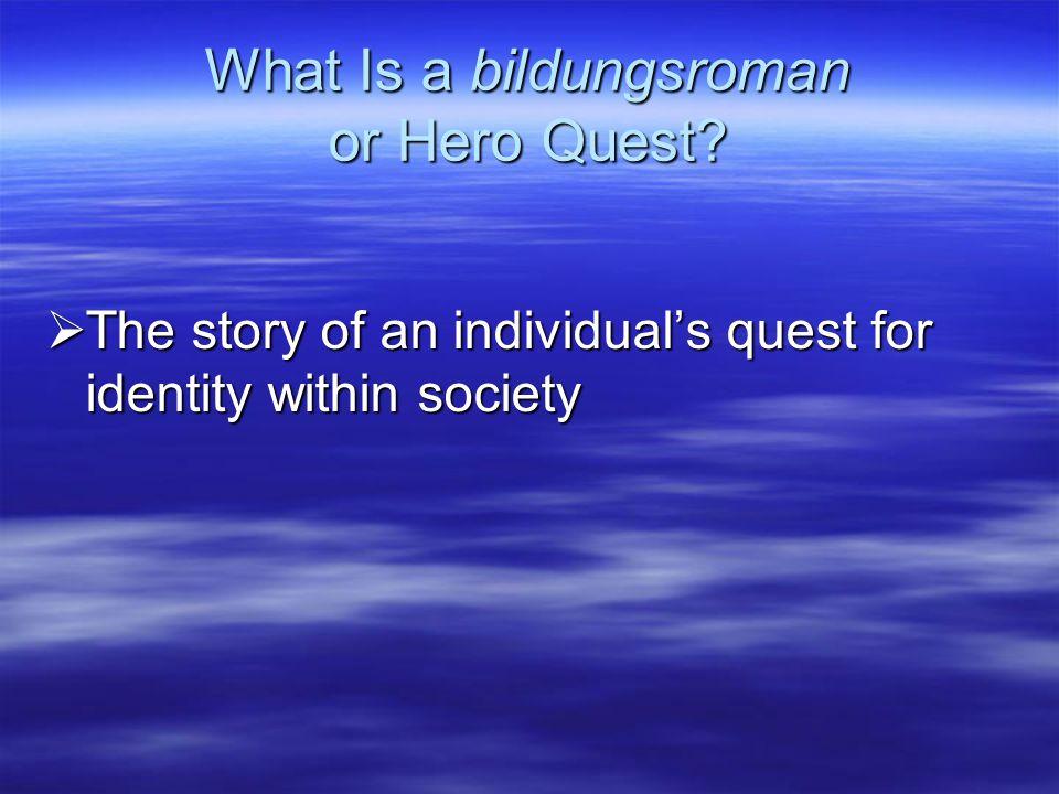 What Is a bildungsroman or Hero Quest.
