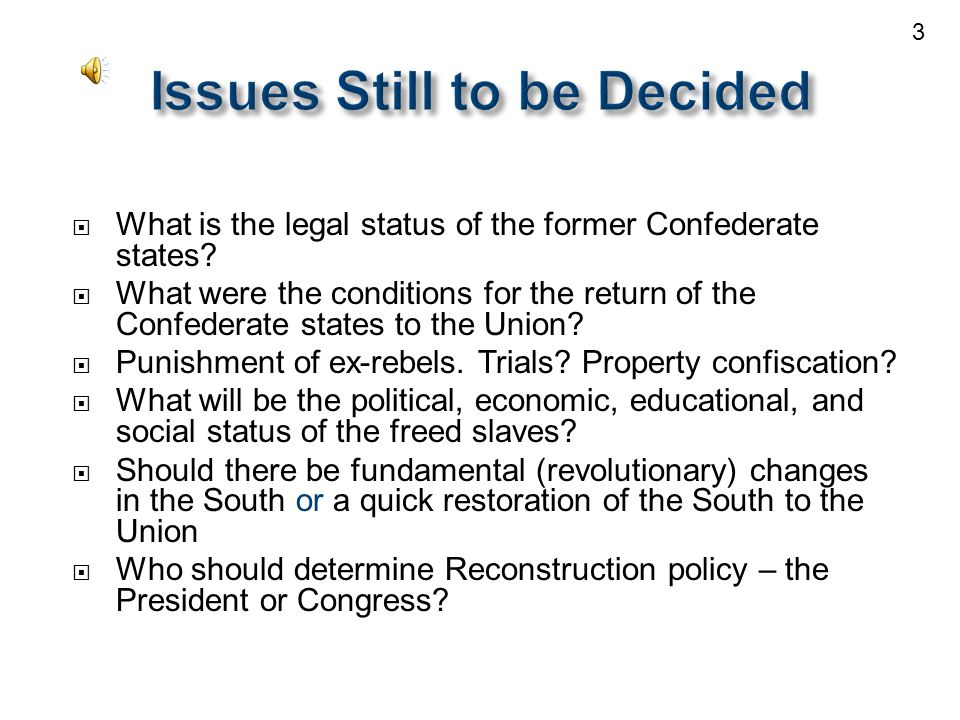  What is the legal status of the former Confederate states.