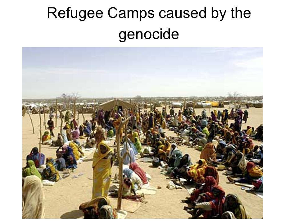 Refugee Camps caused by the genocide