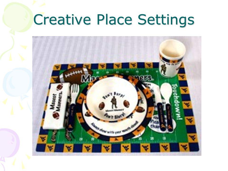 Creative Place Settings