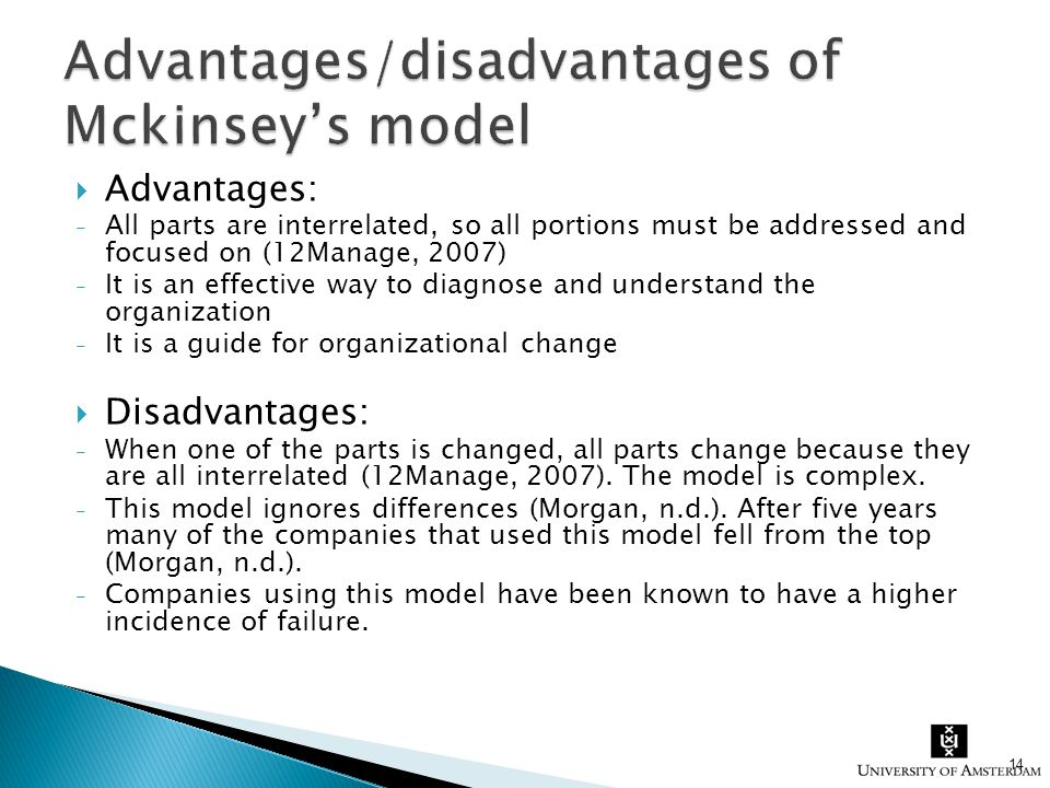  Advantages: - All parts are interrelated, so all portions must be addressed and focused on (12Manage, 2007) - It is an effective way to diagnose and