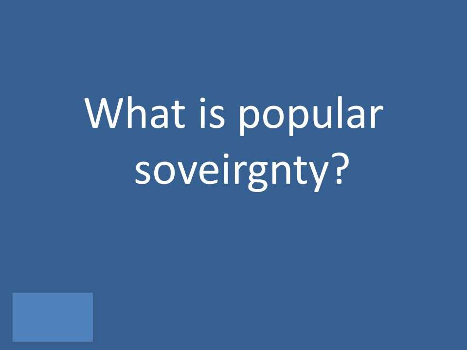 What is popular soveirgnty?