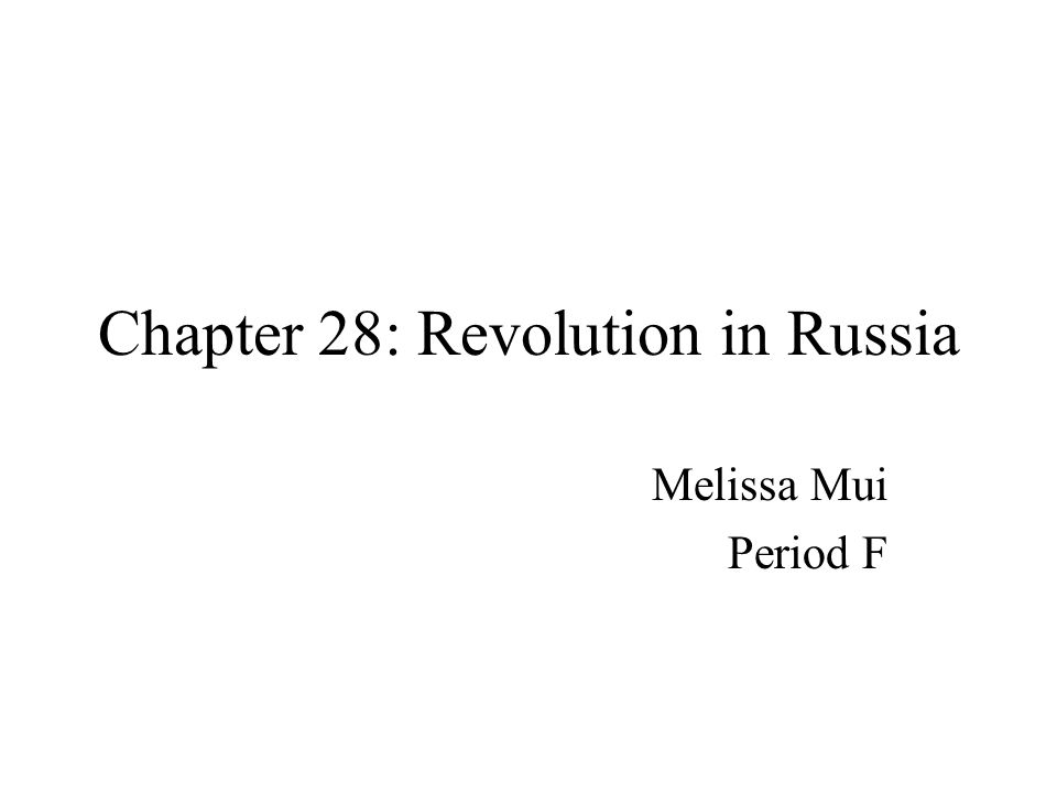 1:Two Revolutions in Russia What was done.