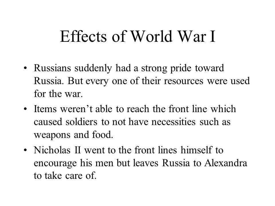 Czarina Alexandra When Nicholas II left to help his men fight the war, Russia was Left in Alexandra's hands.