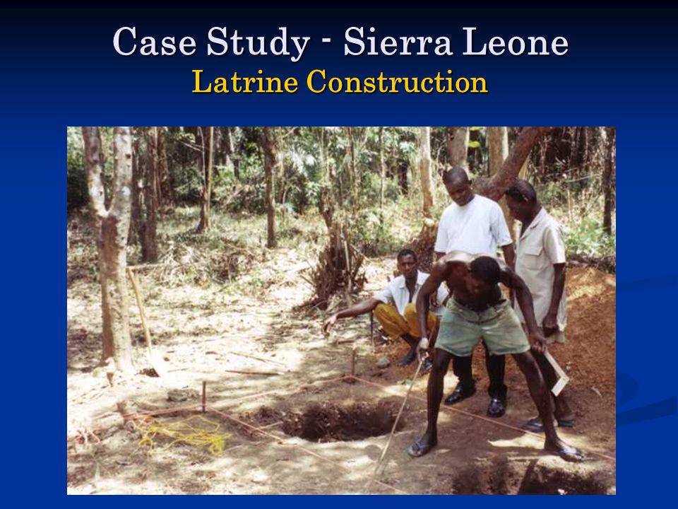 Case Study - Sierra Leone Latrine Construction