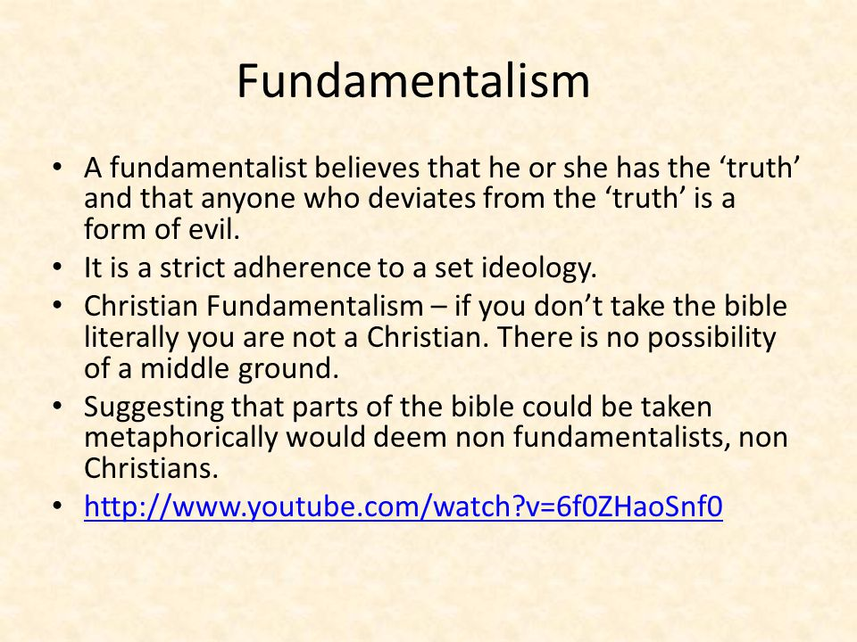 The Danger of Fundamentalism When religion is used as a device for political gain, the chance of a negative outcome is probable.