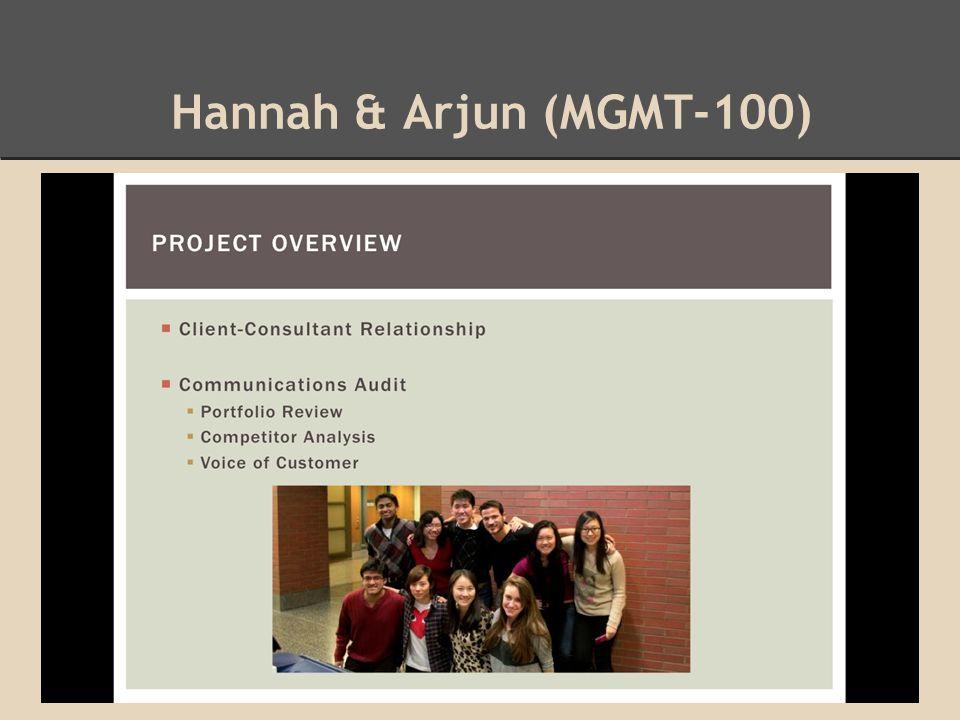 Hannah & Arjun (MGMT-100)