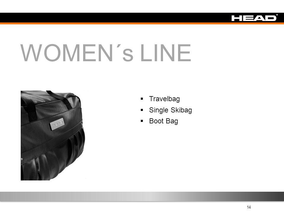 14 WOMEN´s LINE  Travelbag  Single Skibag  Boot Bag