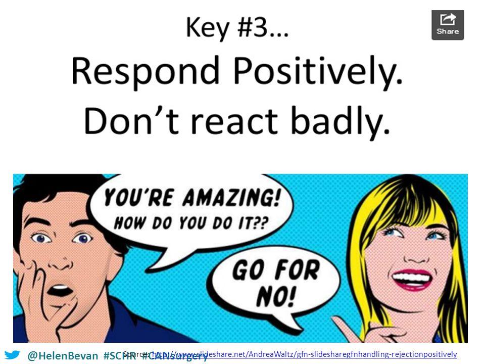 @HelenBevan #SCHR #CANsurgery Source: http://www.slideshare.net/AndreaWaltz/gfn-slidesharegfnhandling-rejectionpositivelyhttp://www.slideshare.net/AndreaWaltz/gfn-slidesharegfnhandling-rejectionpositively