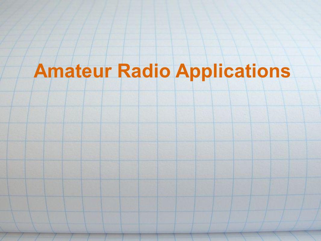 Amateur Radio Applications