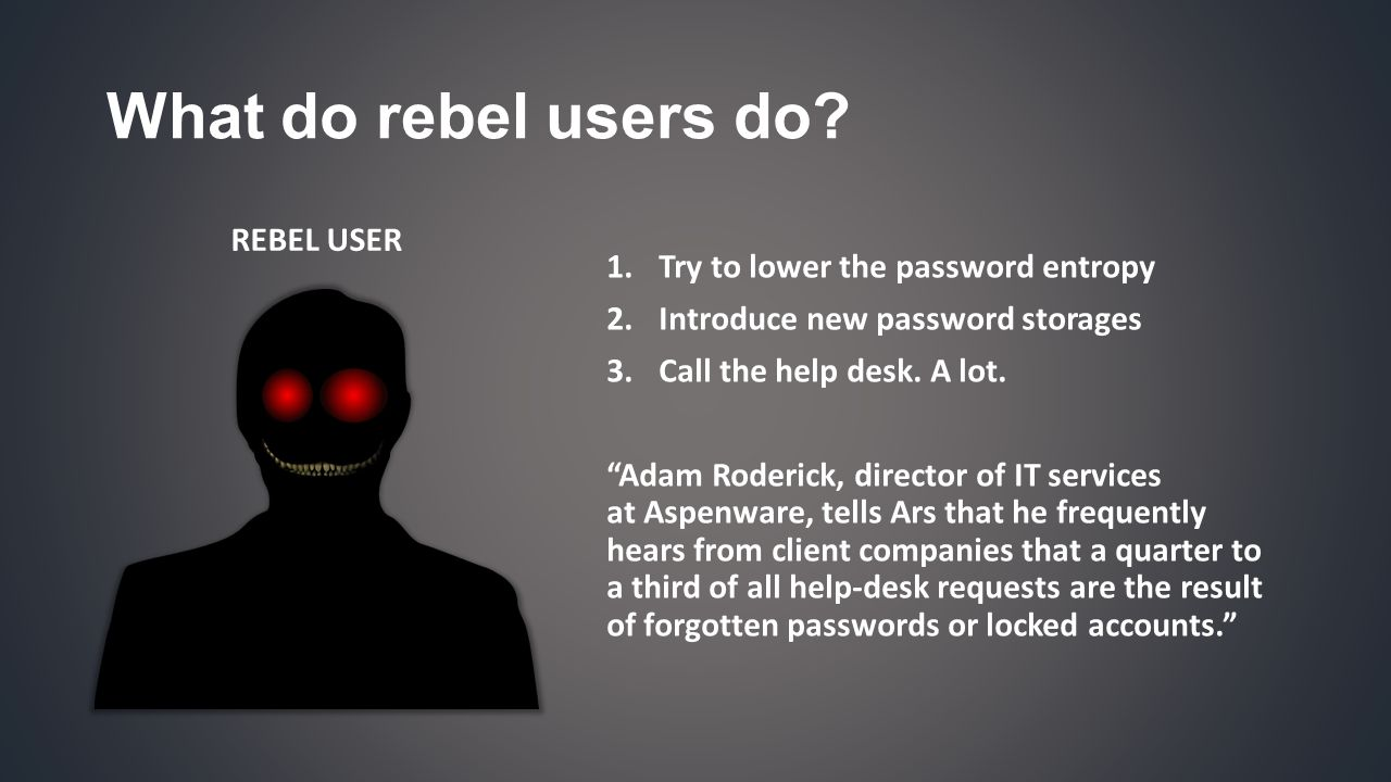 What do rebel users do.
