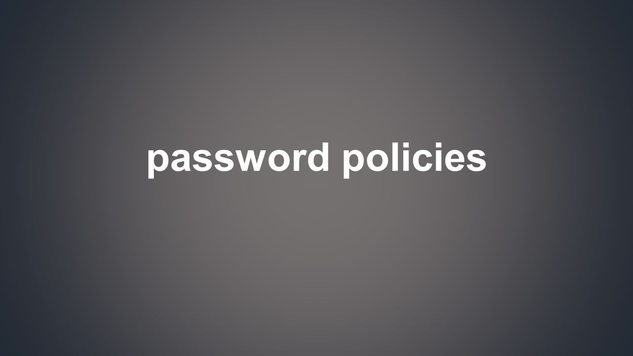 We now know about password cracking.