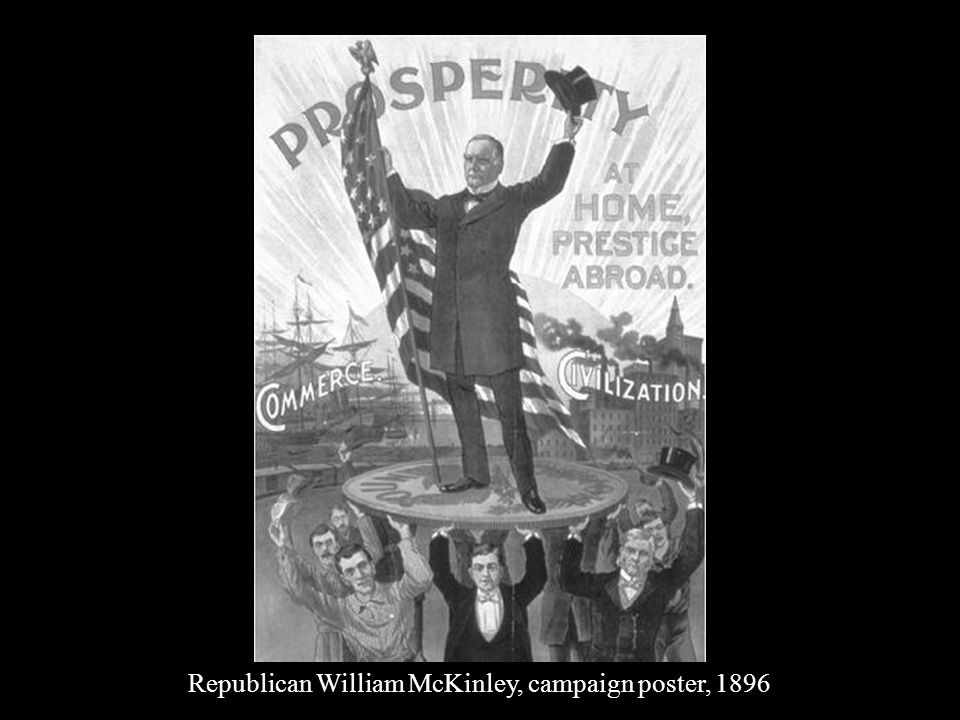 Republican William McKinley, campaign poster, 1896