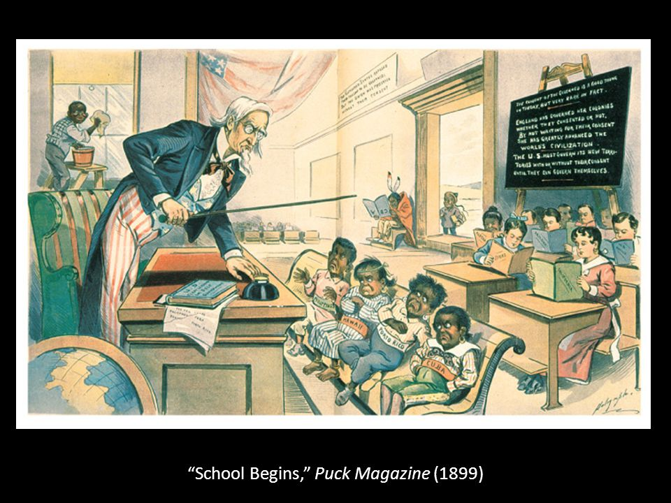 School Begins, Puck Magazine (1899)