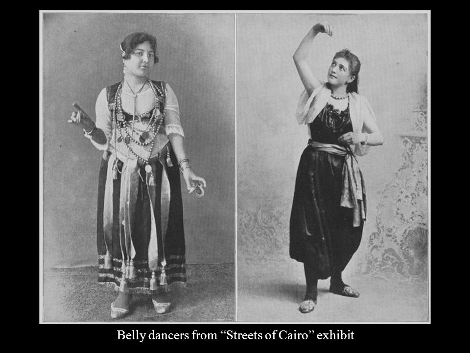 Belly dancers from Streets of Cairo exhibit