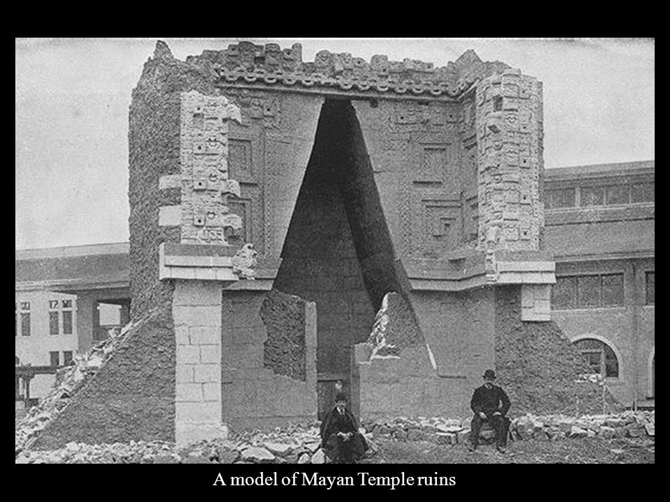 A model of Mayan Temple ruins