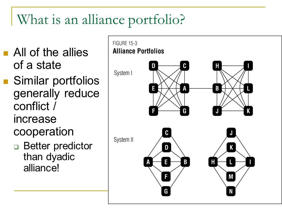 What is an alliance portfolio.