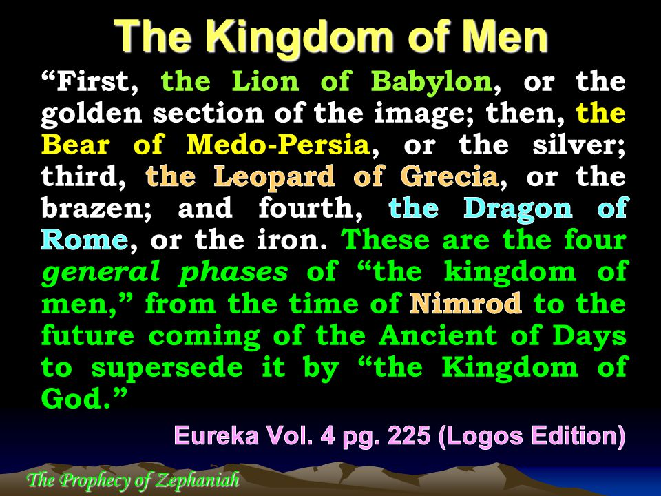 The Prophecy of Zephaniah The Kingdom of Men