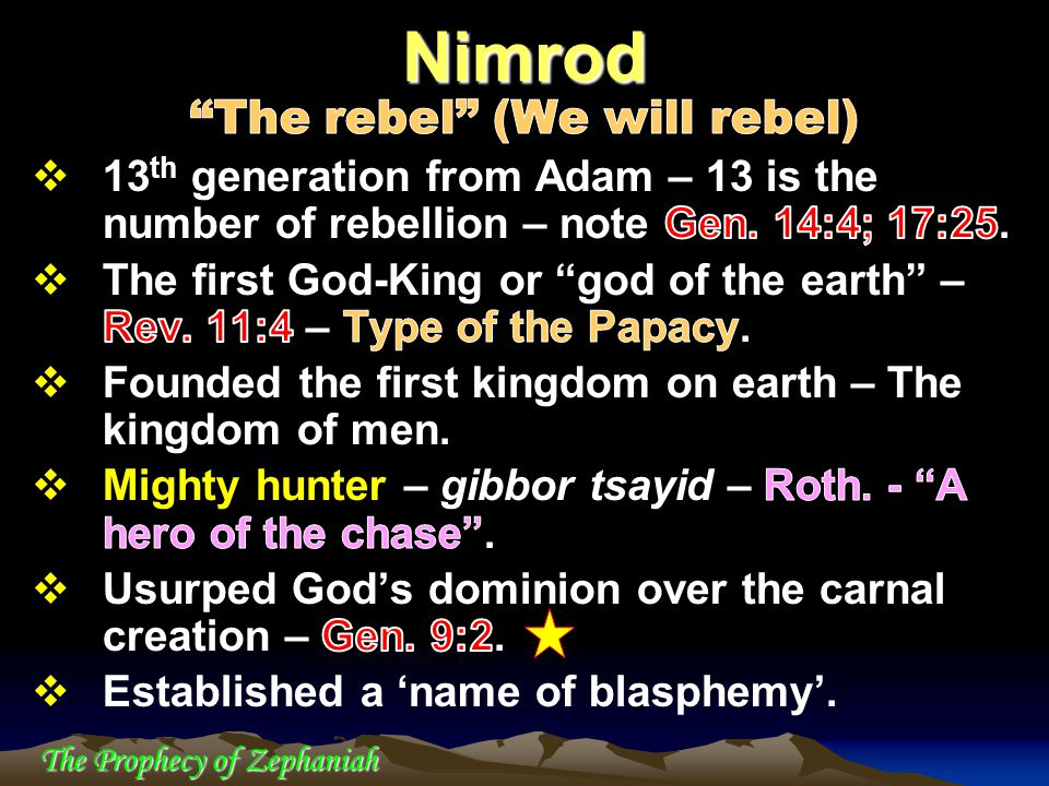 The Prophecy of Zephaniah Nimrod
