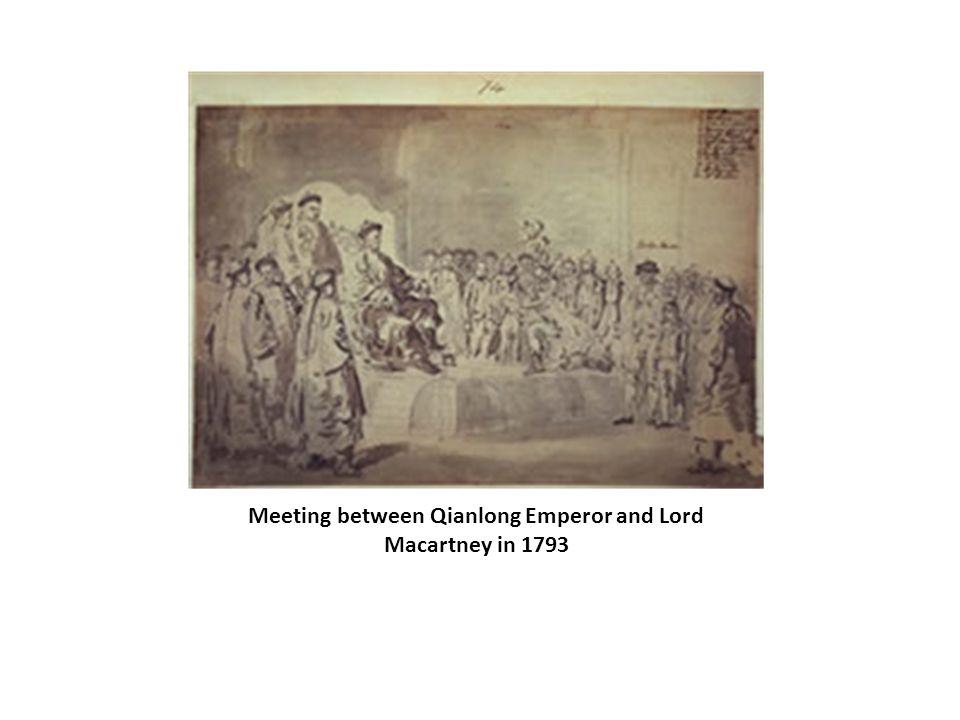 Meeting between Qianlong Emperor and Lord Macartney in 1793