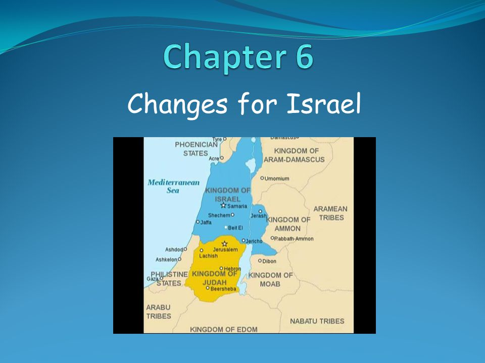 Changes for Israel