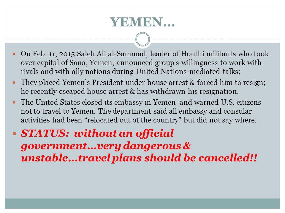 YEMEN… On Feb.