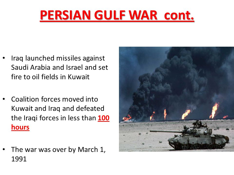 PERSIAN GULF WAR cont.