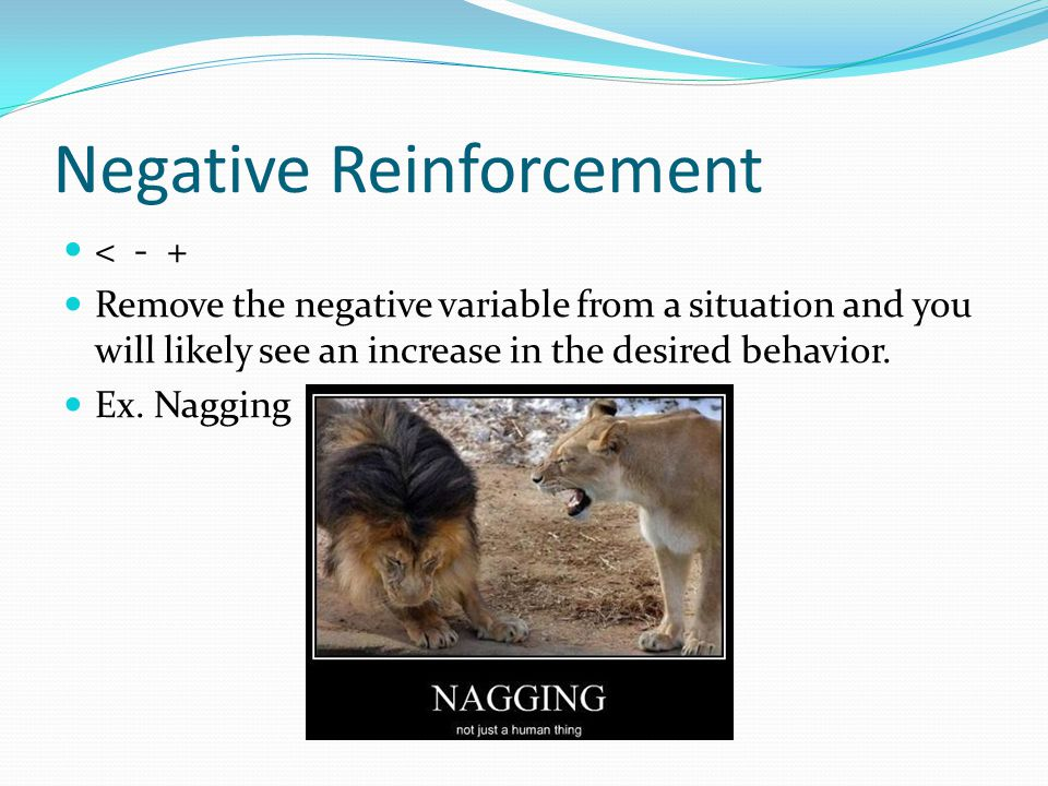 More examples of Reinforcement Fixed interval schedule – reinforcement schedule in which desired behavior is rewarded following a constant amount of time.