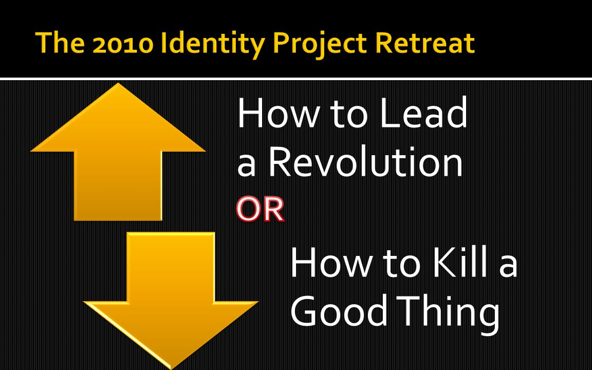 How to Lead a Revolution How to Kill a Good Thing