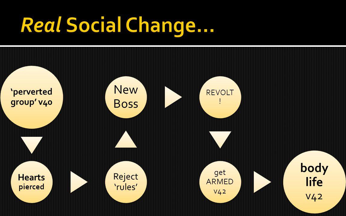 'perverted group' v40 Hearts pierced Reject 'rules' New Boss REVOLT ! get ARMED v42 body life v42