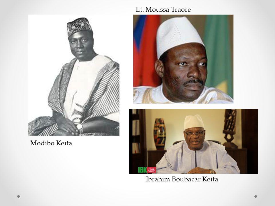 Ibrahim Boubacar Keita Lt. Moussa Traore Modibo Keita