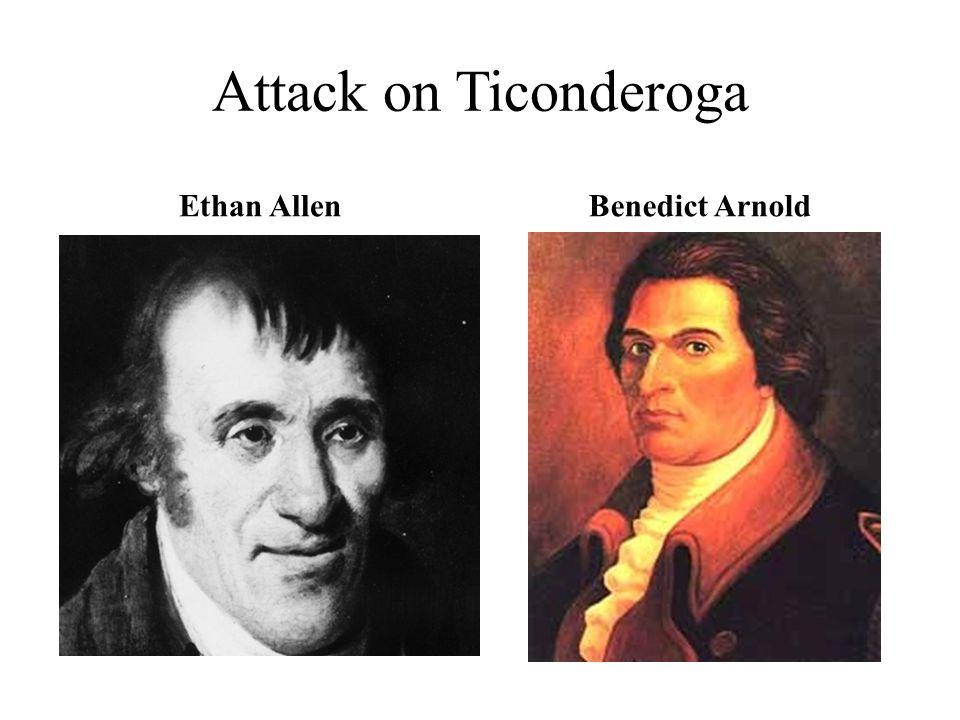 Attack on Ticonderoga Ethan AllenBenedict Arnold