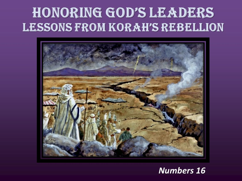 Honoring God's Leaders Lessons from Korah's Rebellion Numbers 16