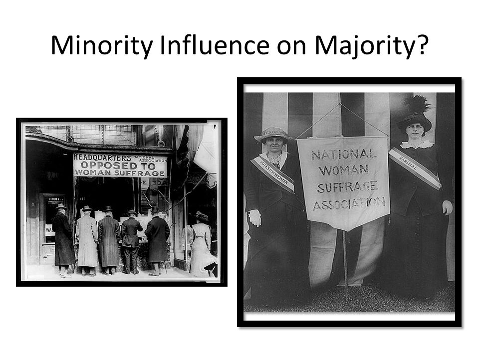 Minority Influence on Majority?